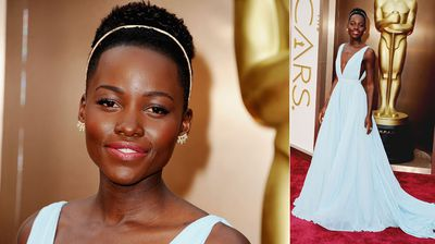 Best Supporting Actress nominee Lupita Nyong'o looks radiant.