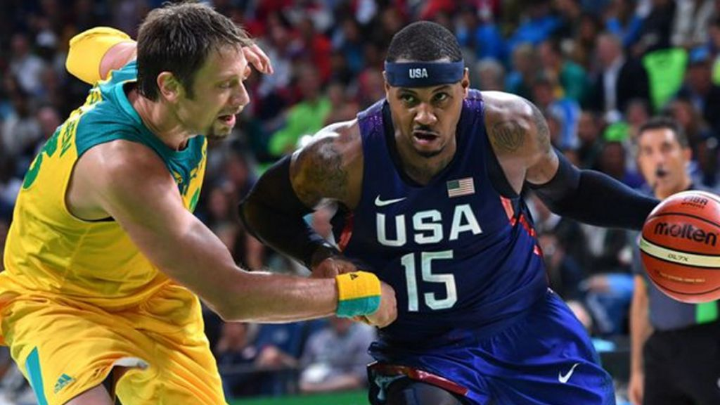 The Boomers were called a dirty team after their clash with USA. (AFP)