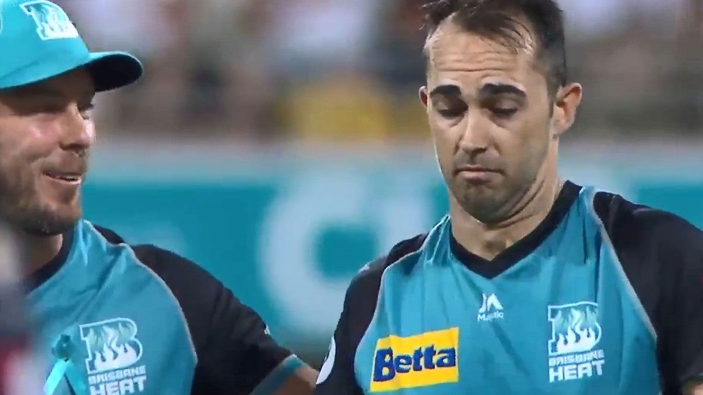 Unaware Heat bowler has to be told he's taken hat-trick