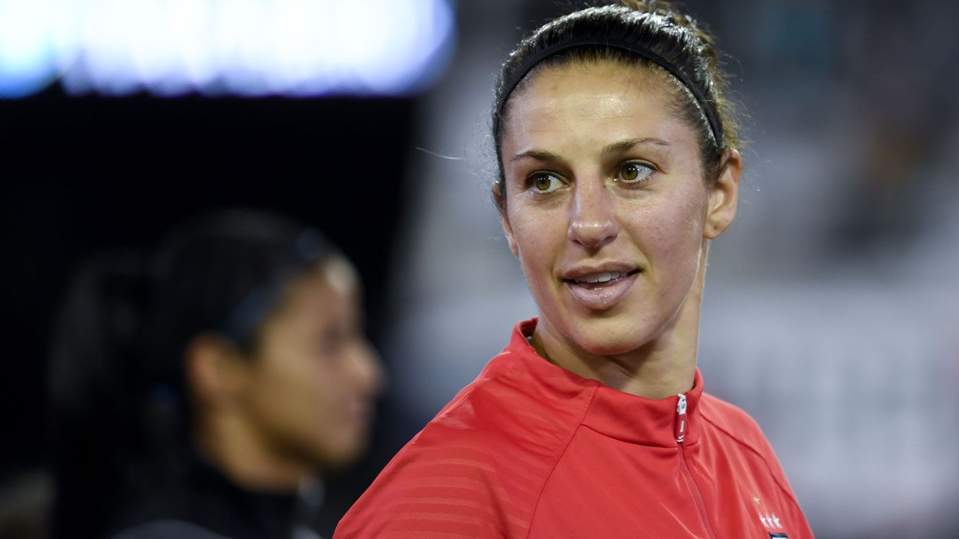 US women's soccer star Carli Lloyd preparing for bid at NFL career