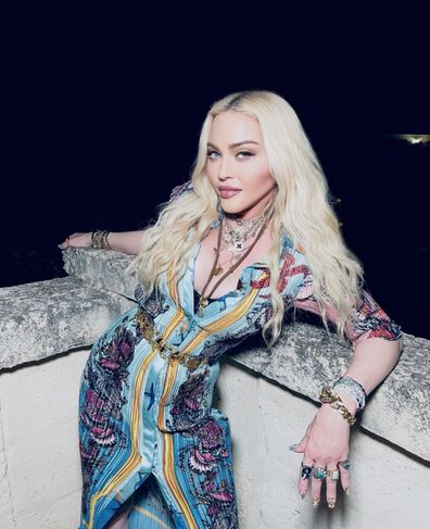 Madonna during her 63rd birthday celebrations in Italy.