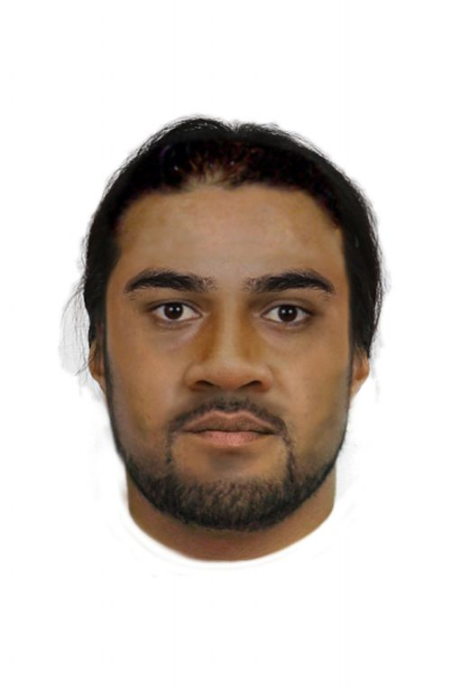 Police have released this composite sketch of one of the alleged offenders.