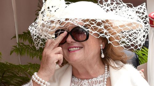 Mining magnate Gina Rinehart earlier on Melbourne Cup Day. (AAP)