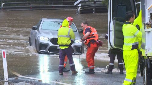 A BMW driver had been to rescued from floodwaters in Holgate.