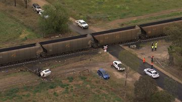 The 29-year-old driver of the truck has been seriously injured, after a train ploughed into his vehicle.