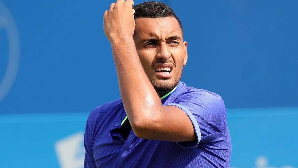 Nick Kyrgios faces a horror draw at Wimbledon. (AAP)
