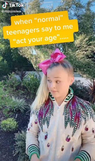 TikTok, video, JoJo Siwa, responds, trolls, act her age