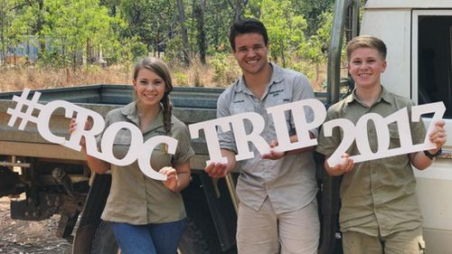 Bindi's boyfriend Chandler Powell joined the family on their croc trip. (Instagram / @bindisueirwin)