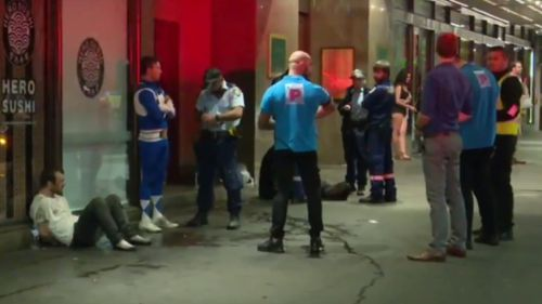 Two men were taken to hospital following the incident. (9NEWS)