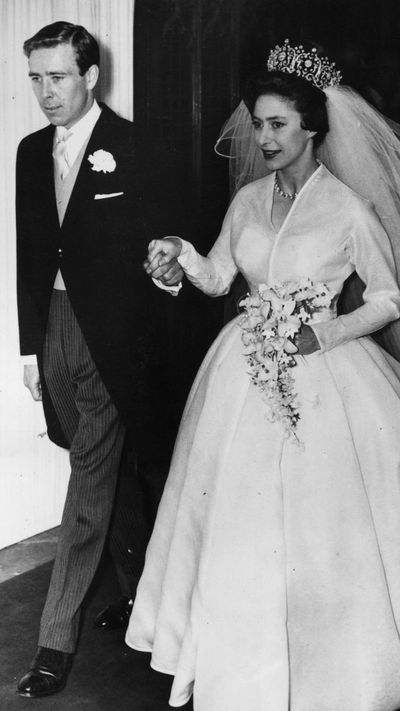 Princess Margaret and Antony Armstrong-Jones married at Westminster Abbey in 1960.