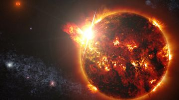 A superflare could send Earth into darkness. Credit: NASA's Goddard Space Flight Centre