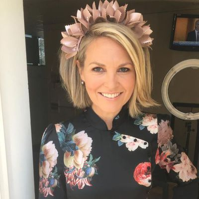 The Nine Network's Georgie Gardiner - floral and fancy.
