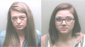 Former nursing home employees Ashley Johnston (left) and Anna Scroggins, face multiple sex charges in the US.