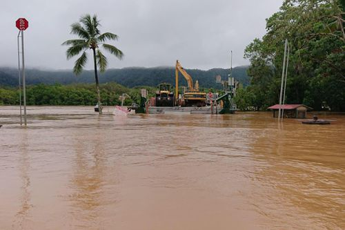 The Daintree River has topped levels not seen since 1901 over the weekend.