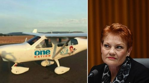 The plane was used on the campaign trail by Hanson. (AAP)