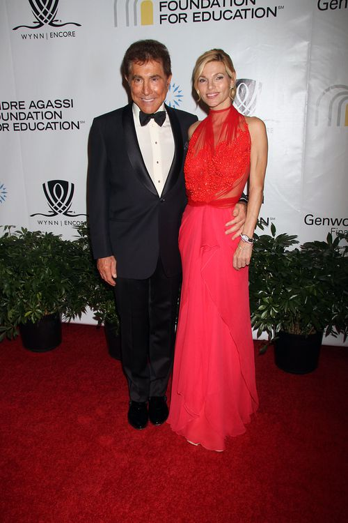 Wynn with third wife Andrea Hissom at a film gala in Las Vegas in 2011. Picture: AAP