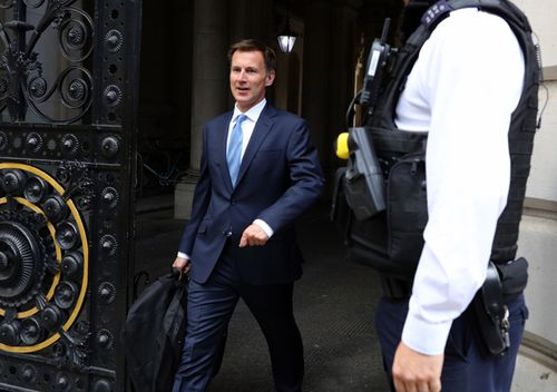 Foreign Secretary Jeremy Hunt leaves Downing Street, London, following a meeting held over British oil tanker Stena Impero which was captured in Iranian waters whilst en route to Saudi Arabia.