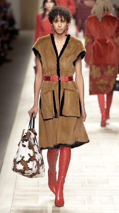 Fashion powerhouse Fendi embraced a head to toe fur look on the runway.