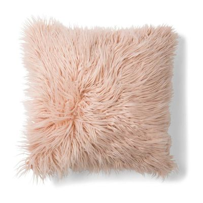 "Zsa Zsa Faux Fur Cushion in pink, $12 <a href=""http://www.kmart.com.au/product/zsa-zsa-faux-fur-cushion---pink/808025"" target=""_blank"">Kmart</a>"
