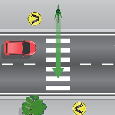 Can cyclists ride across pedestrian crossings?