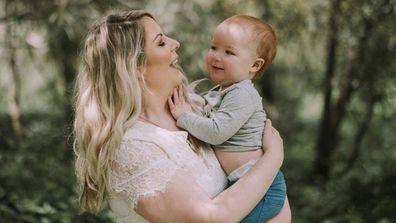 Lara Huddleston and baby Thomas