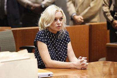 Lindsay Lohan wound up in court again in late 2011, for violating her parole. The judge sentenced her again, this time to 30 days in jail, but due to overcrowding in California's jails she never stepped foot inside a prison cell.