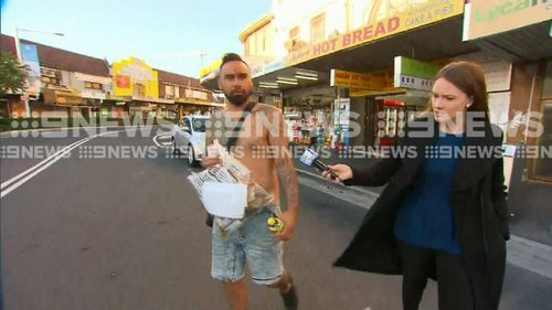 The 33-year-old from Fairfield offered no comment when approached by 9NEWS. (9NEWS)