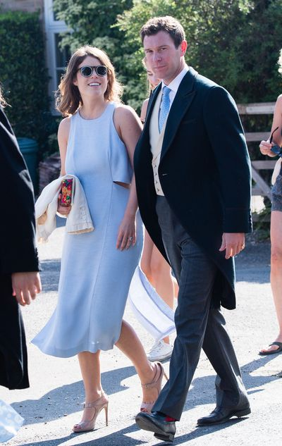 Princess Eugenie attends the wedding of Charlie van Straubenzee and Daisy Jenks