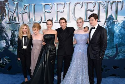 """Left to right: Juno Temple, Lesley Manville, Angelina Jolie, Sharlto Copley, Elle Fanning and Sam Riley.<br/><br/><i>Maleficent</i> hits Aussie cinemas today!<br/><b><a target=""""_blank"""" href=""""http://yourmovies.com.au/movie/46182/maleficent/review"""">Read TheFIX's review HERE</a></b>, keep scrolling through to check out the trailer or <b><a target=""""_blank"""" href=""""http://yourmovies.com.au/movie-times/"""">CLICK HERE to book tickets</a></b>."""