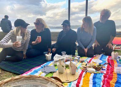 Sami Lukis on a picnic in Sydney