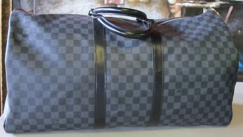 A Louis-Vuitton bag auctioned off after Morehu-Barlow was caught.