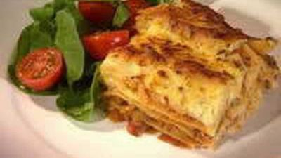 Lentil and pumpkin lasagne