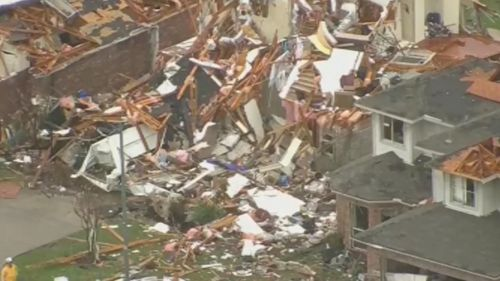 Tornadoes have lashed Dallas, Texas. (Supplied)