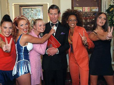 The Spice Girls with Prince Charles, 1997