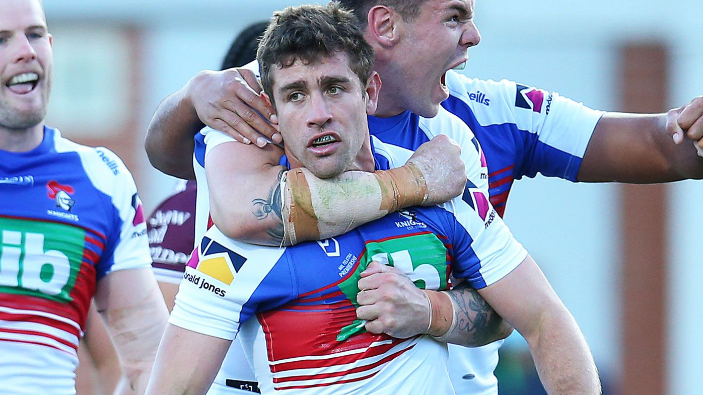 Andrew McCullough saves a crucial win for the Newcastle Knights.