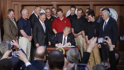 While the Trump Administration has been criticised as having not achieved anything in the first 100 days, the president was able to roll back many regulations passed by his predecessors. His new laws allow coal companies to dump mining waste in nearby streams, hunters to shoot hibernating bears, and people deemed a danger to themselves by a court to buy guns.