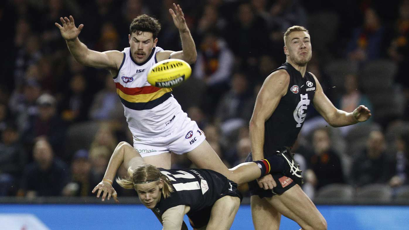 Prized Blues AFL recruit has back fracture