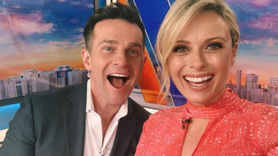 Jeffreys with her Today Extra co-host David Campbell.