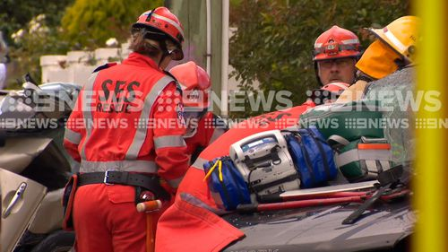 "Police have said a man who caused a head-on collision in Geelong West this morning is ""extremely lucky"" to be alive."