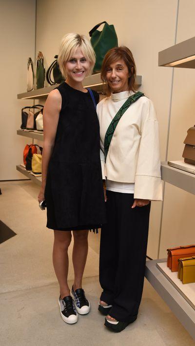 <p>Linda Tol and Marni designer and founderConsuelo Castiglioni.</p>