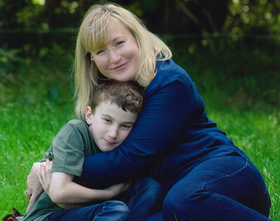 Donna with her son Luca.