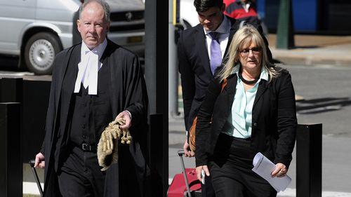 Debbie Kilroy outside Brisbane's Supreme Court with Michael Burn QC.