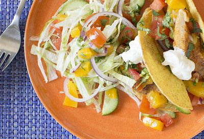Fish tacos with Mexican salad