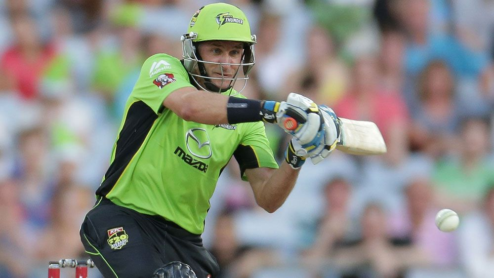 Mike Hussey in action for Sydney Thunder. (Getty)
