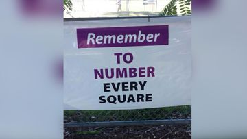 """The LNP has failed in its effort to prevent the ALP using these """"number every square"""" signs after the Supreme Court said they were unlikely to deceive voters. (9NEWS)"""