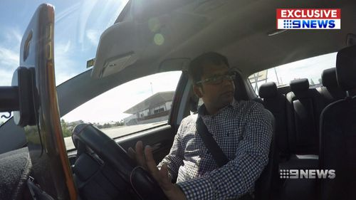 Mr Ghosh is urging other Uber drivers to get cameras in their cars to protect themselves. (9NEWS)