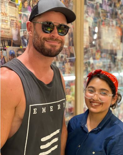 Chris Hemsworth frequented Chargrill Charlie's in Sydney, Woolahra.