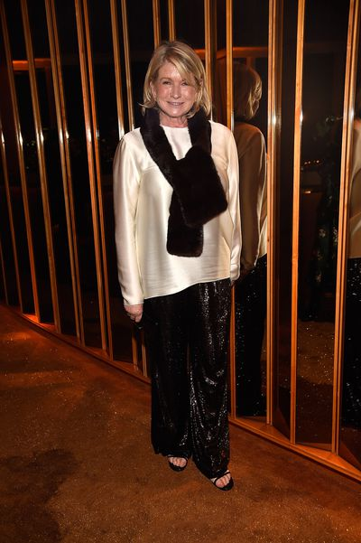 Martha Stewart at V Magazine's Intimate Dinner In Honour of Karl Lagerfeld, October 2017