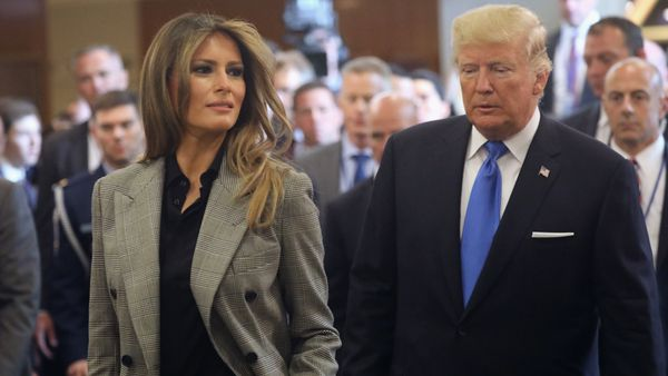 FLOTUS Melania Trump and President Donald Trump. Image: Getty.