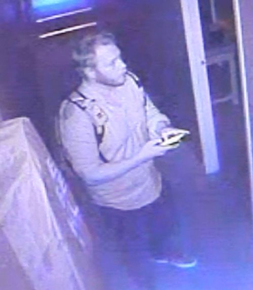 Police would like to speak with the man pictured in relation to an assault at a massage parlour in Sydney's Inner West.